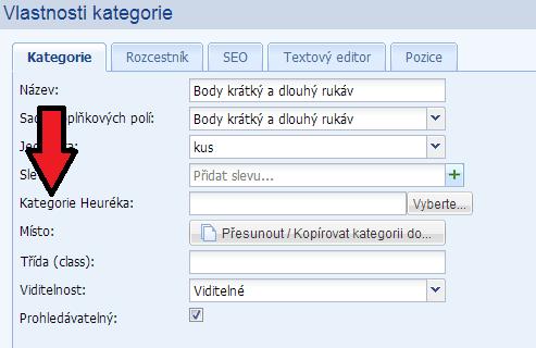 párování produktů na heureka.cz