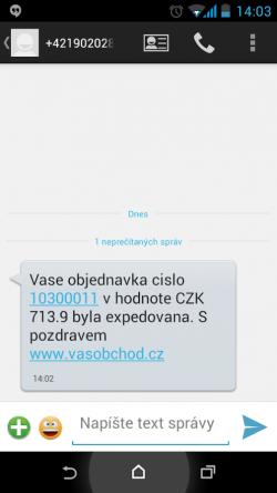sms brána ve flox 2.0