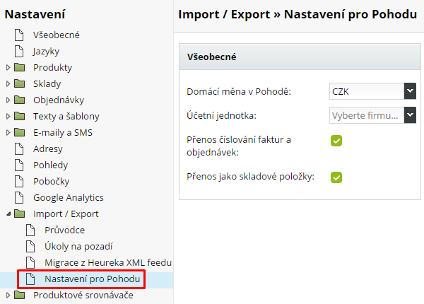 export do Pohody