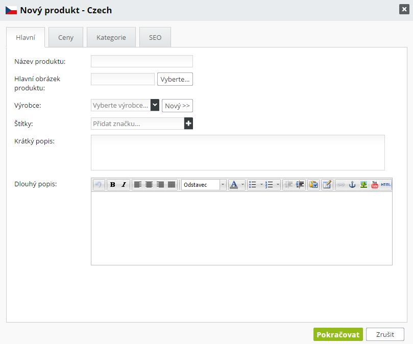 Přidat produkt do e-shopu 79bd79cd56