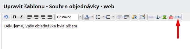 úprava html kódu