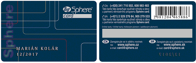 karta sphere card