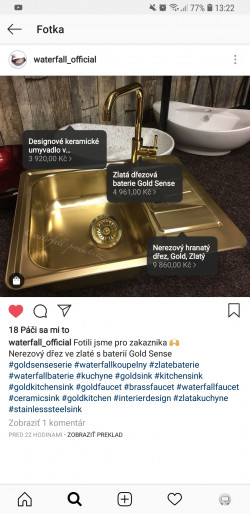 Instagram Shopping waterfall-products.cz